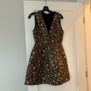Alice and Olivia metallic floral dress